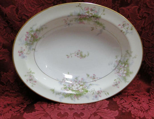 Haviland NY Apple Blossom: Oval Vegetable Serving Bowl 9 1/2""