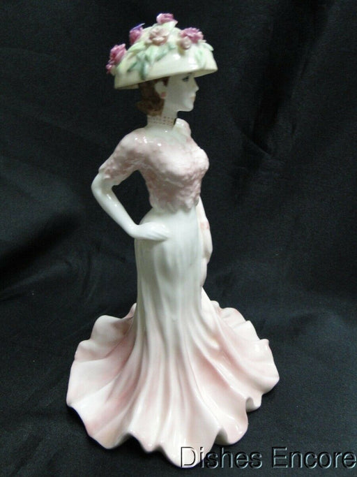 "Coalport Figurine, Bone China, Hand Painted, Ladies of Fashion: Liz 8 1/2"" AS IS"