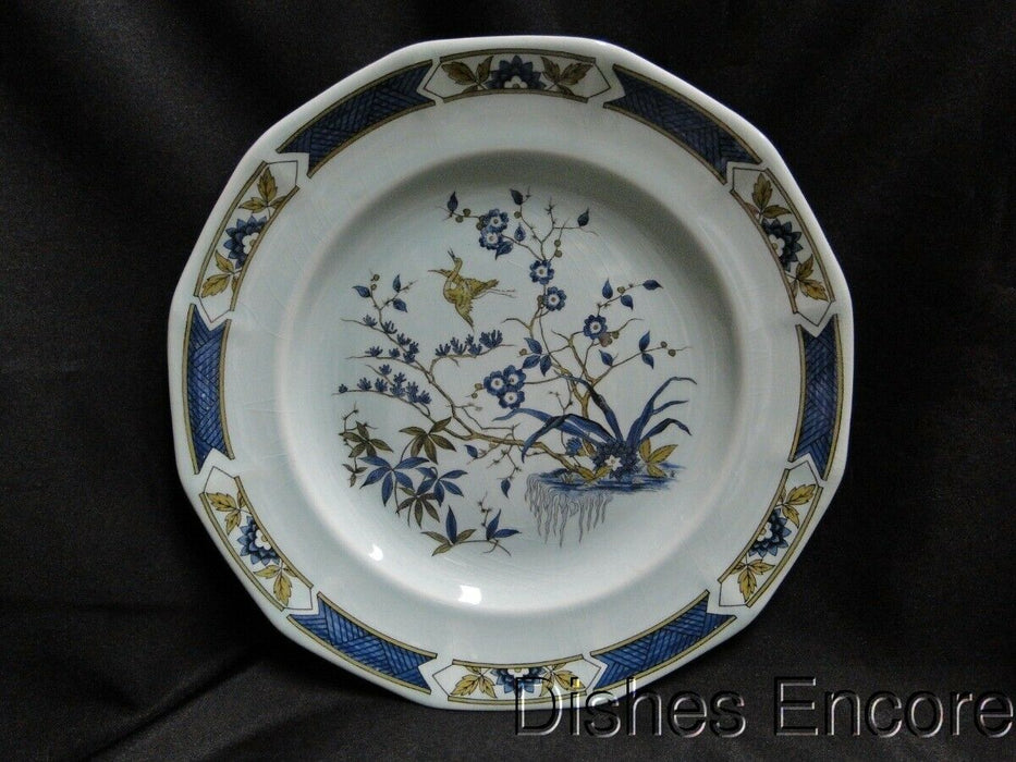 Adams Ming Toi, Calyxware, Celadon, Blue & Brown: Dinner Plate, Crazing 10 1/4""