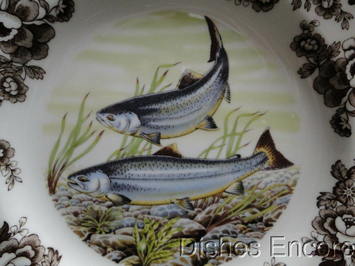 "Spode Woodland King Salmon, North American Fish: NEW Dinner Plate, 10 3/4"", Box"