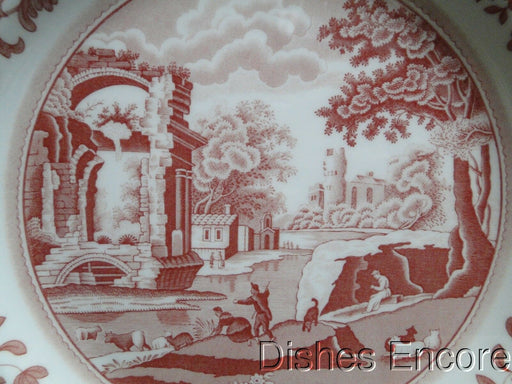 Spode Italian, Cranberry / Red Scene, England: NEW Dinner Plate (s), 10 1/2""