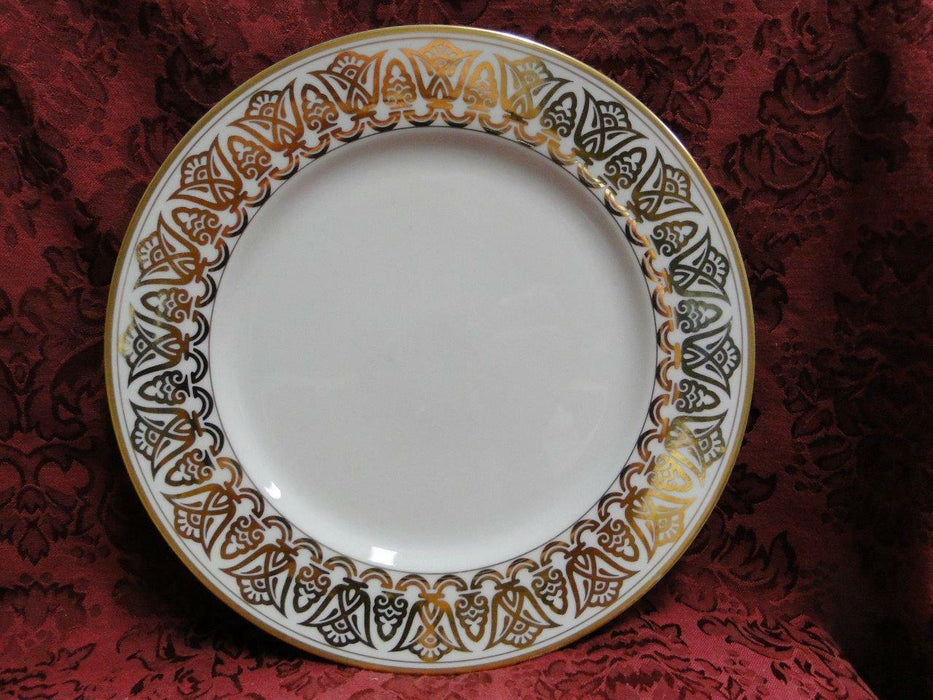 Fitz & Floyd Luxor, Buff with Geometric Gold Design: Dinner Plate (s) 10 3/8""