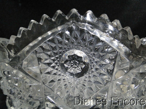 "Imperial Glass Nucut Pressed Glass: Oval Dish 6 1/2"" x 4 1/8"" AS IS"