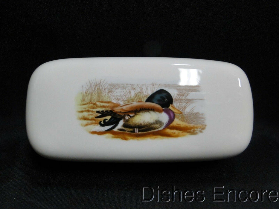 Spode Woodland Mallard Duck: NEW Covered Butter Dish w/ Lid, Box