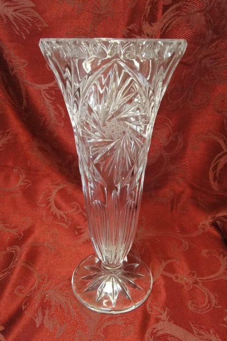Tall Glass Vase with Spinning Stars, 11""