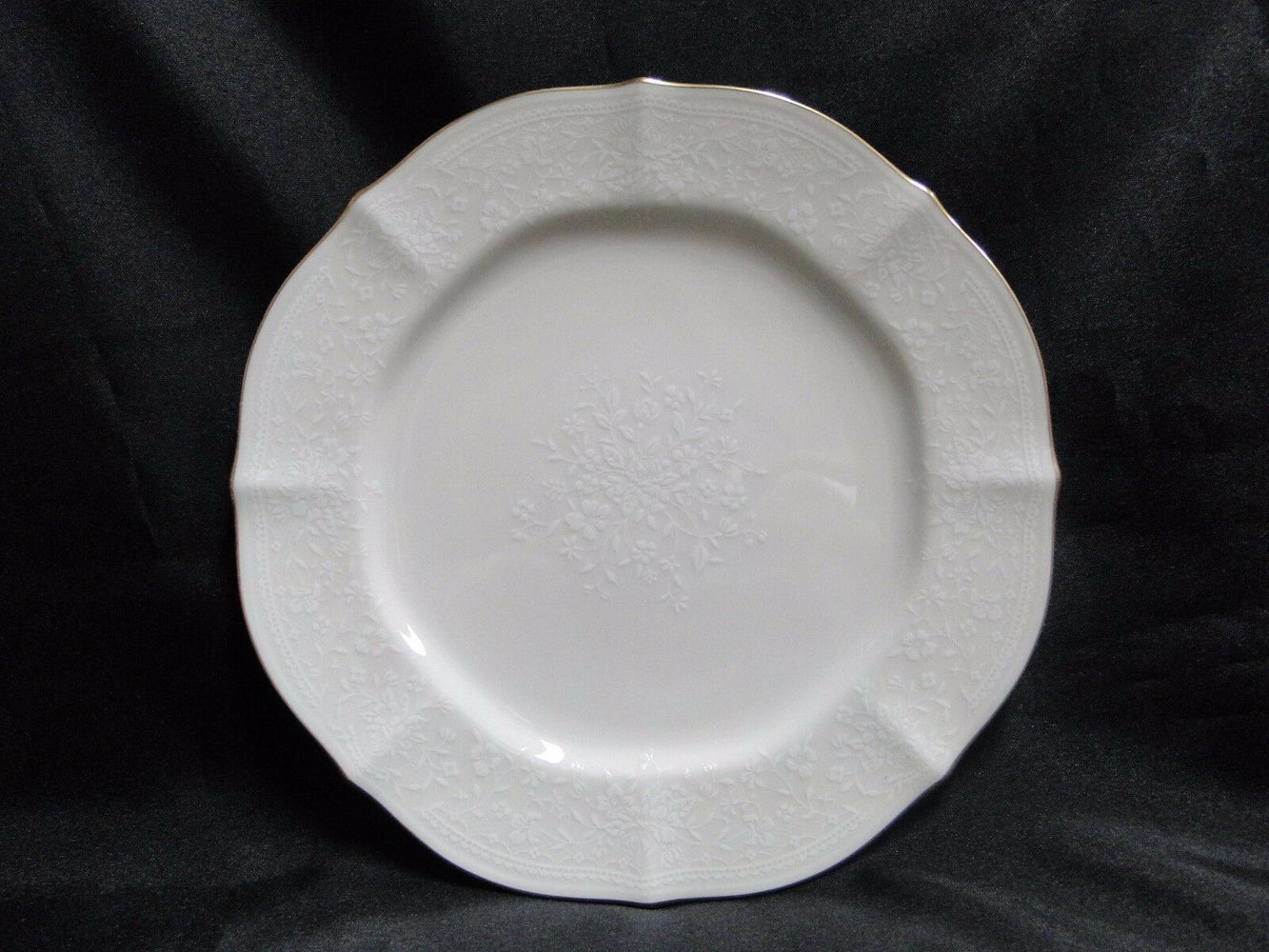 Noritake Chandon, 7306, White Floral on Ivory: Salad Plate (s), 8 1/4""