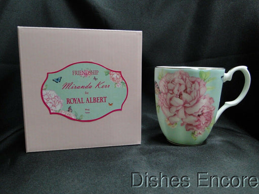 "Royal Albert Friendship Green, Miranda Kerr: NEW Vintage Mug (s), 4 1/8"", Box"