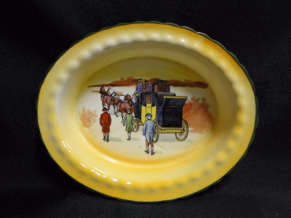 "Royal Doulton Coaching Days, Coach w/ 3 Men Walking: Nut Dish, 5 5/8"", 15d"