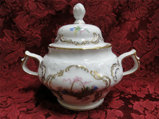 Rosenthal Rokoko, Flower Basket, Ribbons: Sugar Bowl w/ Lid