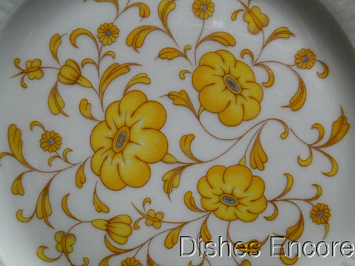 Raynaud Ceralene Medicis Yellow, Floral Border & Center: Luncheon Plate, 8 3/4""