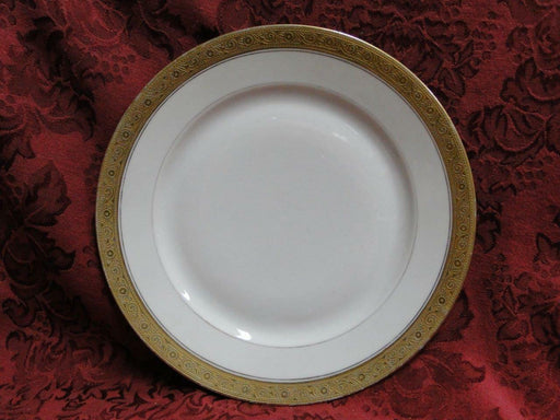 Hutschenreuther HUT99 White with Encrusted Gold, Gold Verge: Luncheon Plate (s)