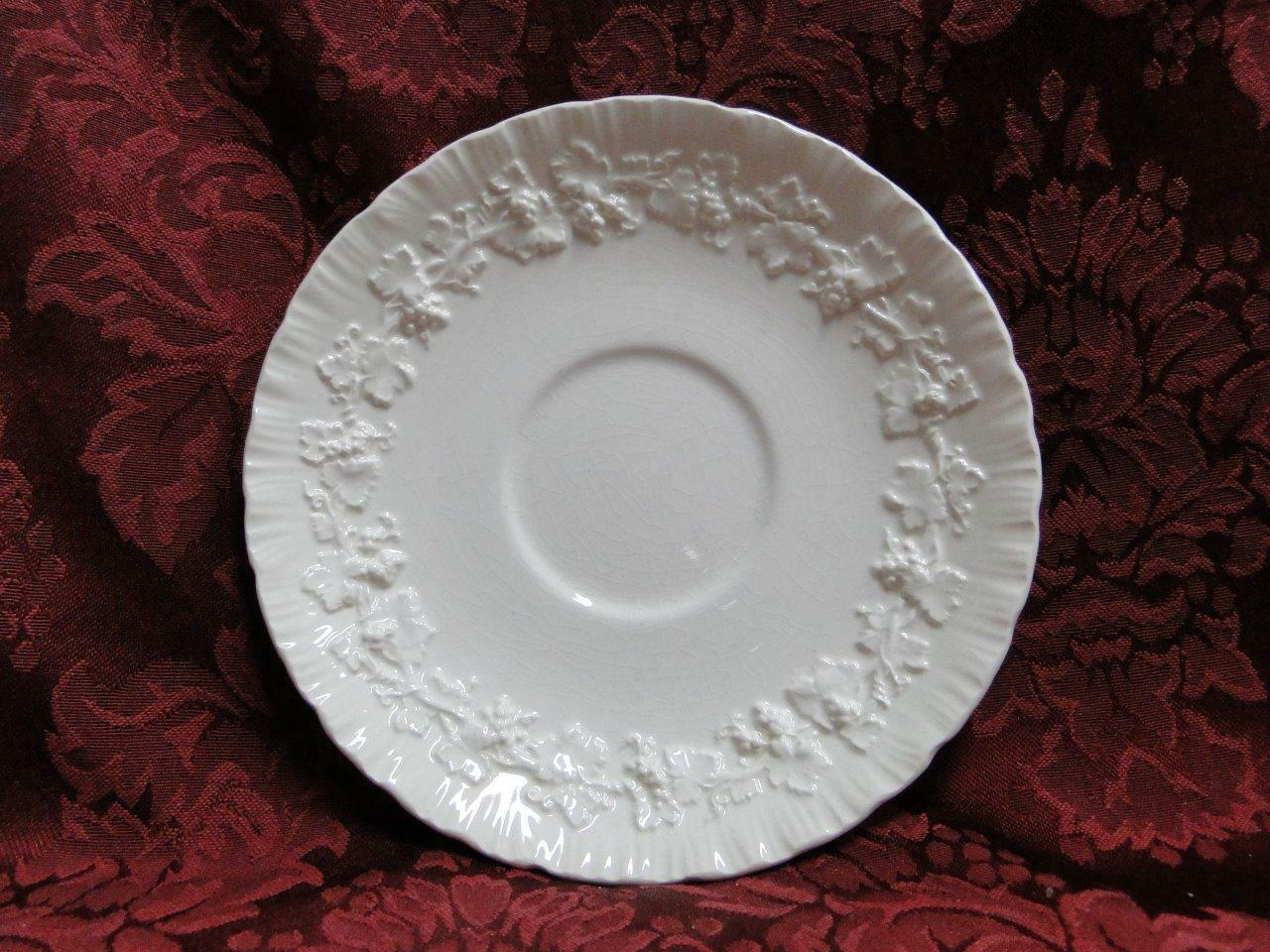 "Wedgwood Queensware Cream on Cream Shell Edge: 5 7/8"" Saucer Only, Crazing As Is"