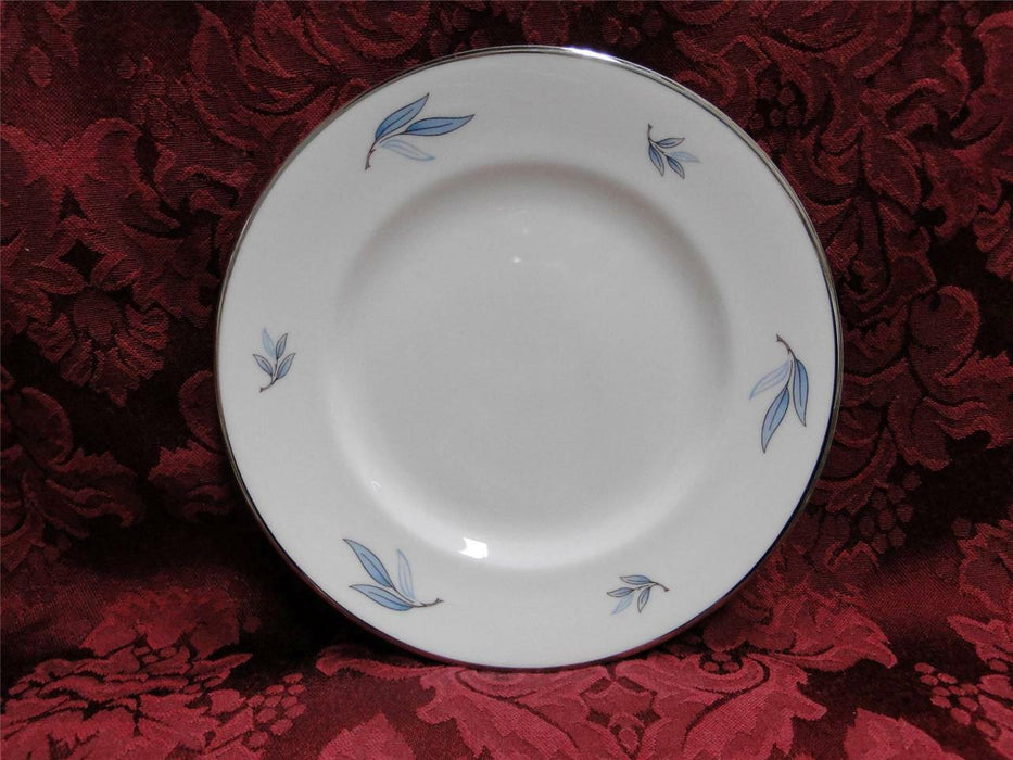 Syracuse Celeste, Blue Leaves on Rim, Platinum: Bread Plate (s), 6.25""
