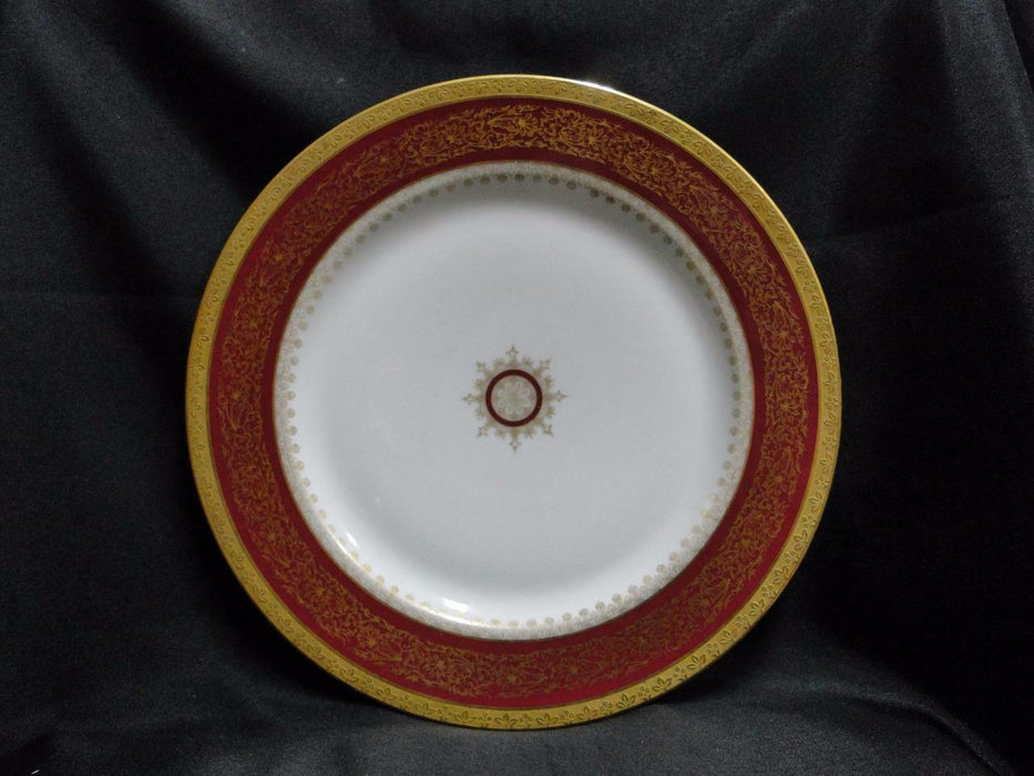 Tressemanes & Vogt, Red Band, Gold Filigree, Medallion: Dinner Plate (s) 10 3/8""