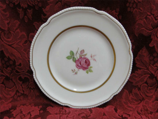Castleton Dolly Madison, rose w/ gold trim: Bread Plate (s) 6 1/2""