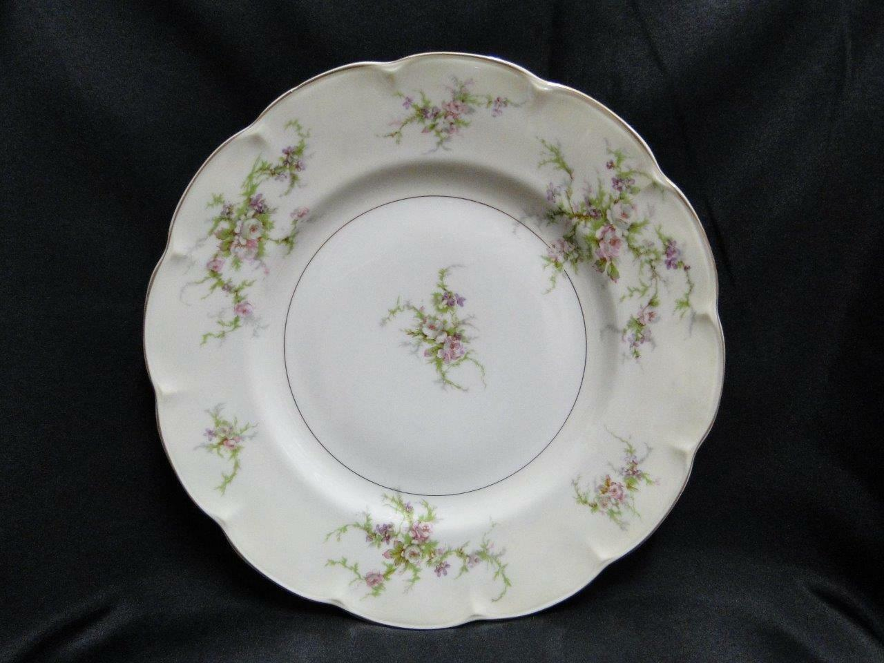 Haviland (New York) Rosalinde (France), Floral with Gold: Dinner Plate 10 1/2""