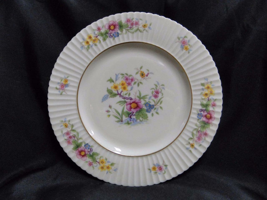 Lenox Sonnet, Floral, Fluted, Ivory with Gold: Dinner Plate (s) 10 3/4""