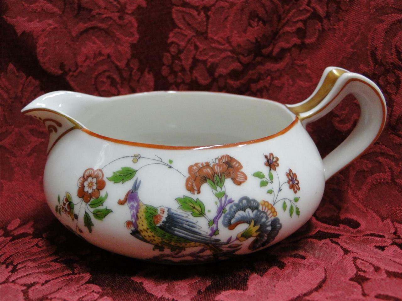 Haviland (Limoges) Schleiger 684 Birds Dark Red Trim: Creamer