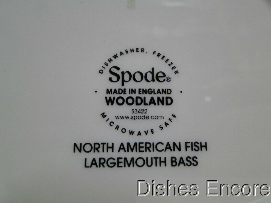 "Spode Woodland North American Fish Largemouth Bass: NEW Salad Plate 7 3/4"", Box"