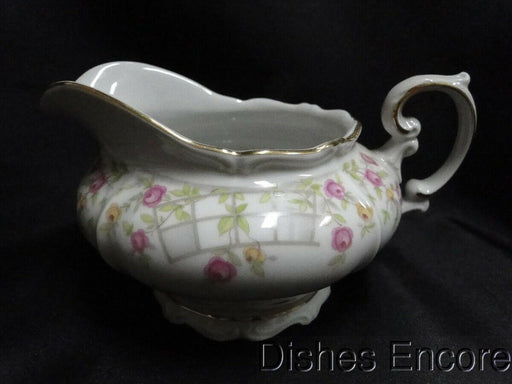 Amcrest Country Garden, Bavaria, Pink Roses, Gold: Creamer / Cream Pitcher AS IS