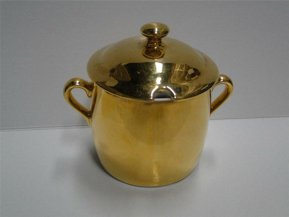 Royal Worcester Lustre Gold, Gold & White: Jam / Jelly Jar with Lid, 3 3/4""