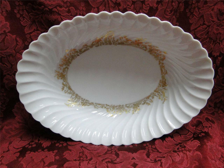 Haviland (Limoges) Ladore, Gold Floral: Oval Vegetable Bowl 10 1/2""
