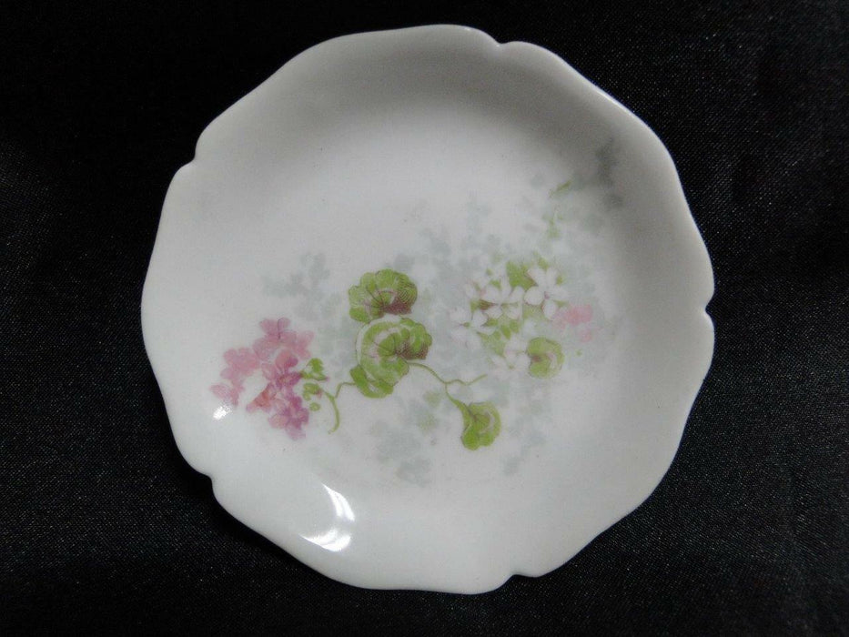 Wm Guerin, Limoges, Pink & White Flowers, Scalloped: Butter Pat (s) 3 1/8""