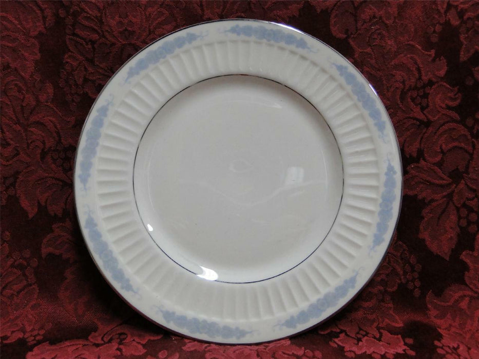Flintridge Crissy Rose Blue Floral, Platinum Trim: Salad Plate (s) 8 1/2""