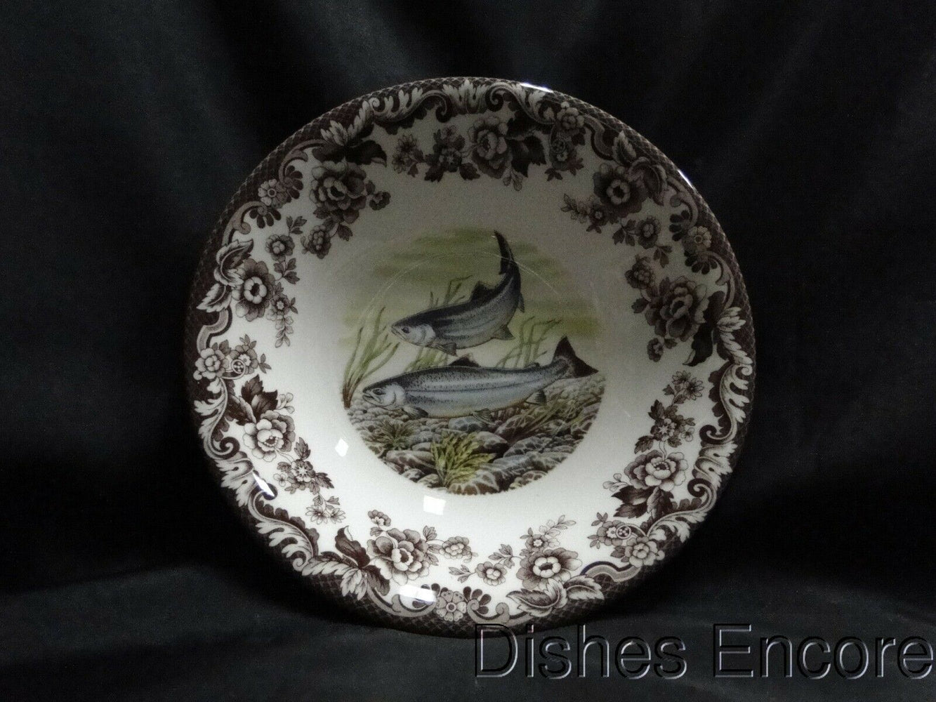 Spode Woodland King Salmon North American Fish: NEW Ascot Cereal / Soup Bowl, Box