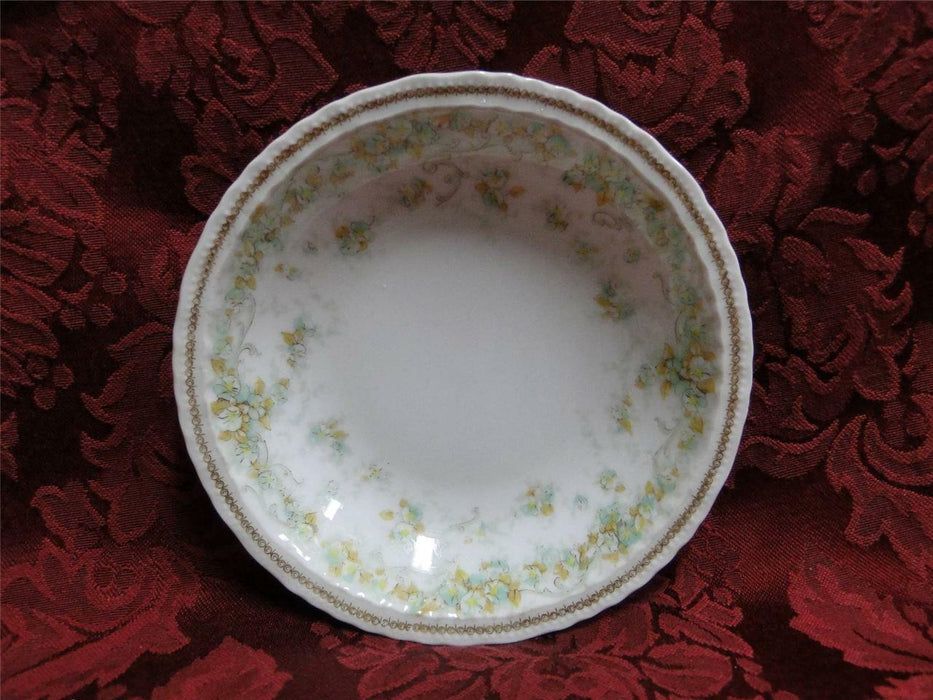 Haviland (Limoges) Green & Tan Floral Garland, Blank 123: Fruit Bowl (s)