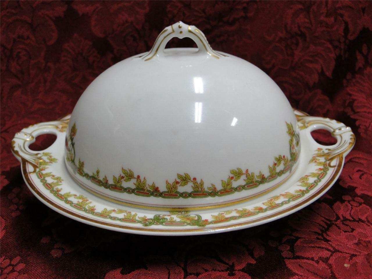 Haviland (Limoges) Schleiger 290: Round Covered Butter w/ Insert (3 pieces)