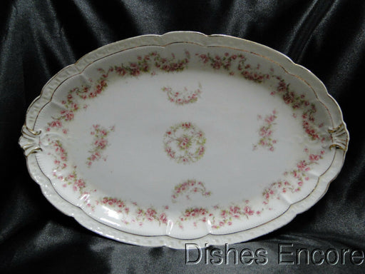 Zeh, Scherzer & Co 508, Pink Rose Garland: Oval Serving Platter, 13 3/8""