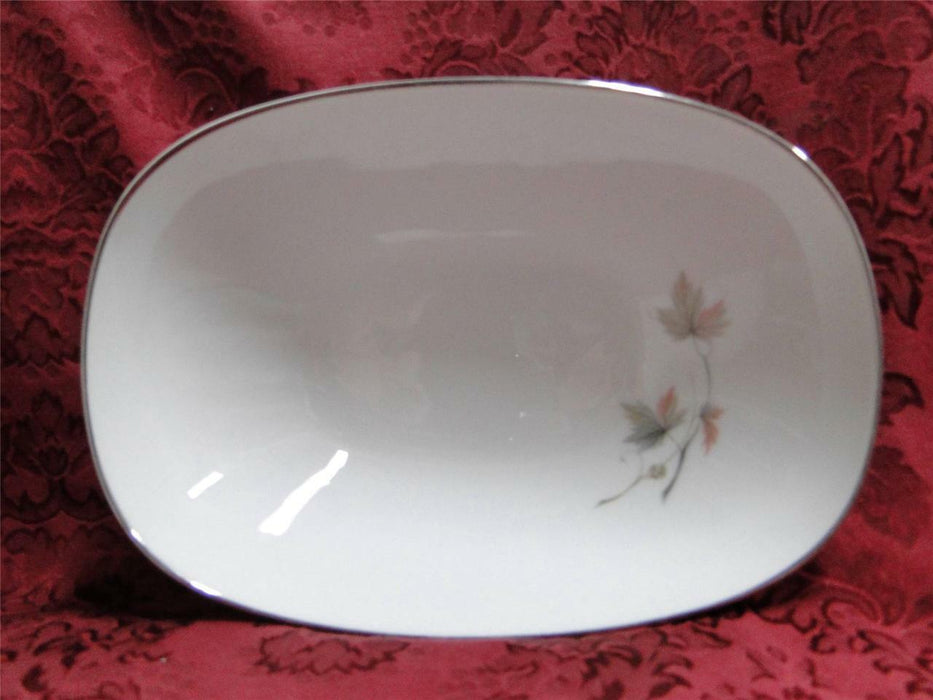Noritake Oaklane, 6310, Taupe & Peach Leaves: Oval Vegetable Bowl (s), 9 7/8""