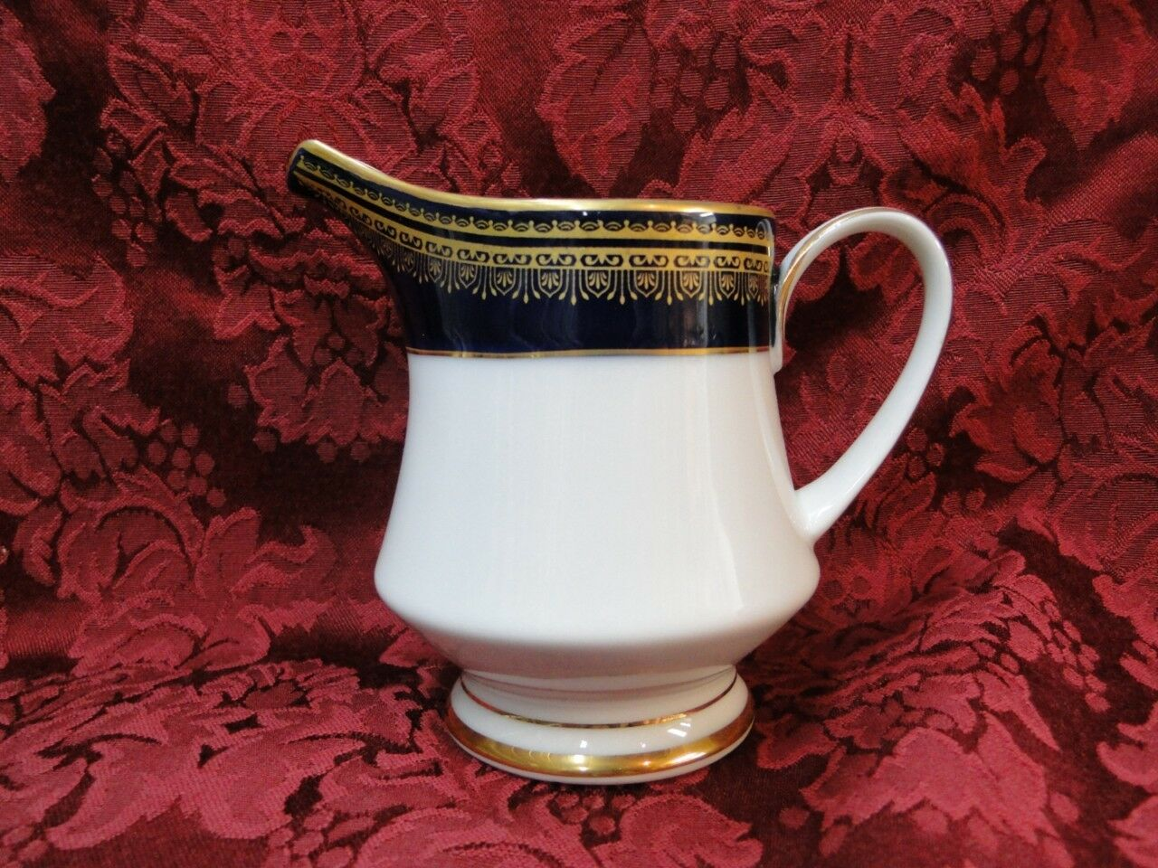 Noritake Vienna, 2796, Cobalt Blue Band w/ Gold: Creamer / Cream Pitcher