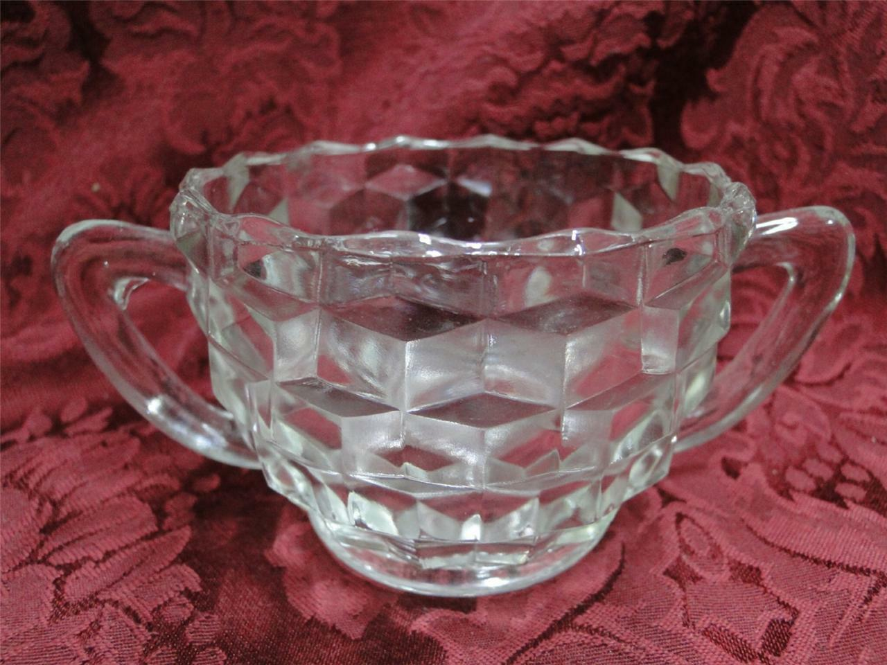 Colony Whitehall Clear: Open Sugar Bowl 2 3/8""