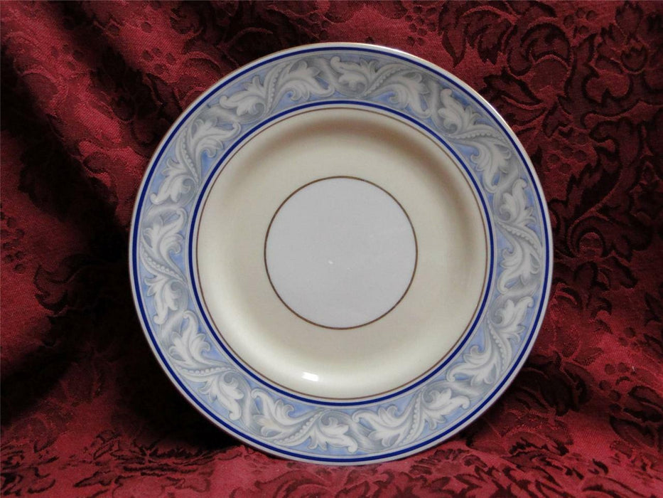Royal Doulton The Tewkesbury, Scrolls on Blue Rim: Salad Plate (s), 7 3/4""