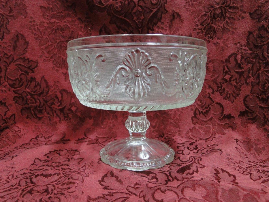 "Clear Sandwich Glass: Compote, 6.5"" x 5 1/2"" Tall"