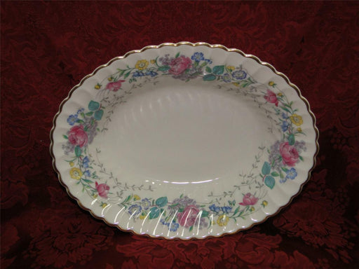 Syracuse Lilac Rose, Multicolored Floral Rim: Oval Vegetable Bowl, 9 3/4""