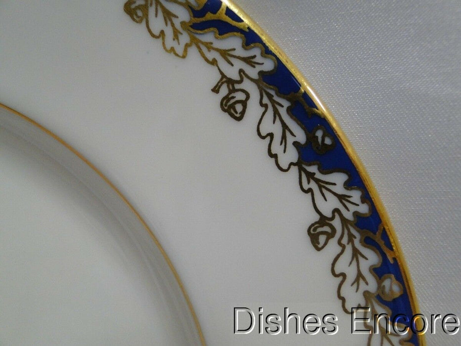 Lenox Oakleaf, All Cream, Cobalt Band, Gold Trim: Salad Plate (s) 8 3/8""