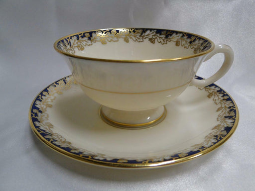 Lenox Oakleaf G 345 B, Cream, Cobalt Blue with Gold: Cup and Saucer Set (s)