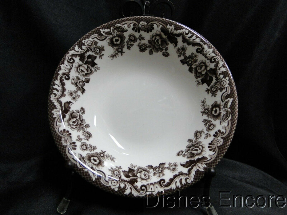 Spode Delamere, Brown Floral Trim, England: NEW Ascot Cereal / Soup Bowl, 8""