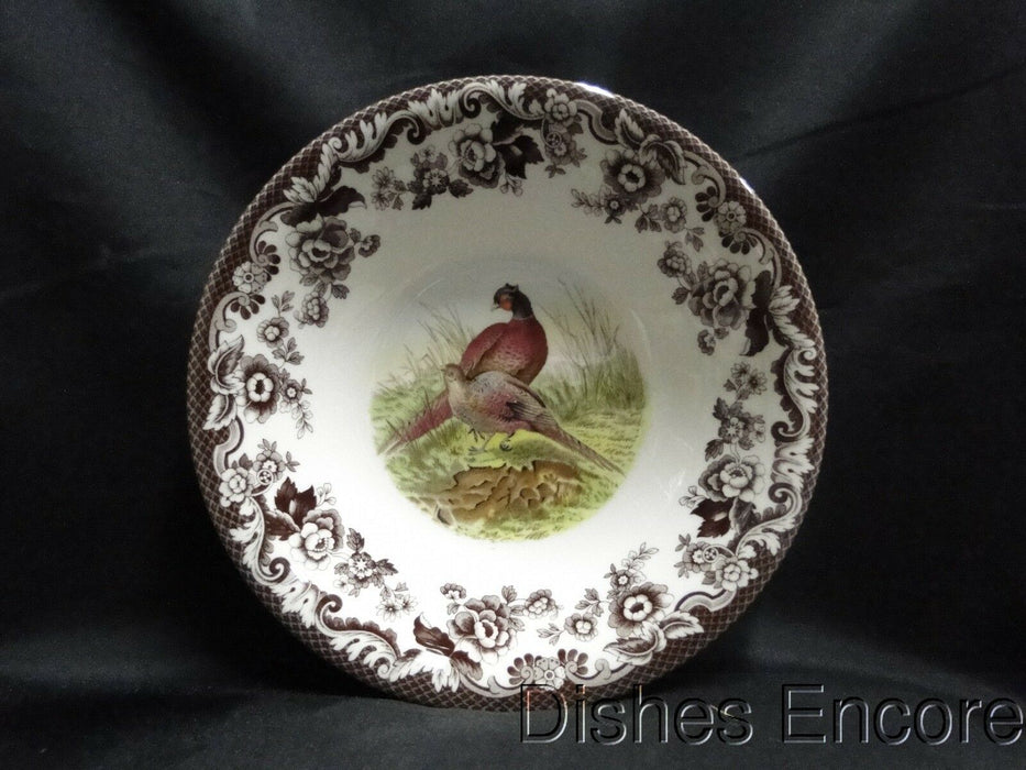 "Spode Woodland Pheasant Game Bird: NEW Ascot Cereal / Soup Bowl, 8"", Box"
