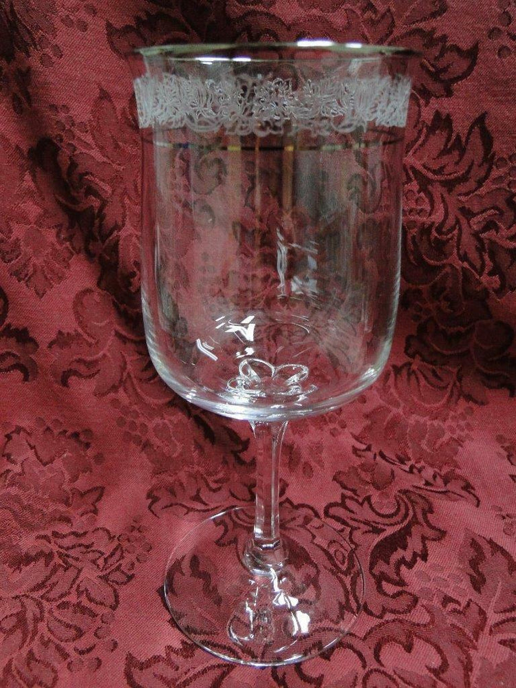 Lenox Crystal Moonspun, Platinum: Water or Wine Goblet (s) 7 1/8""