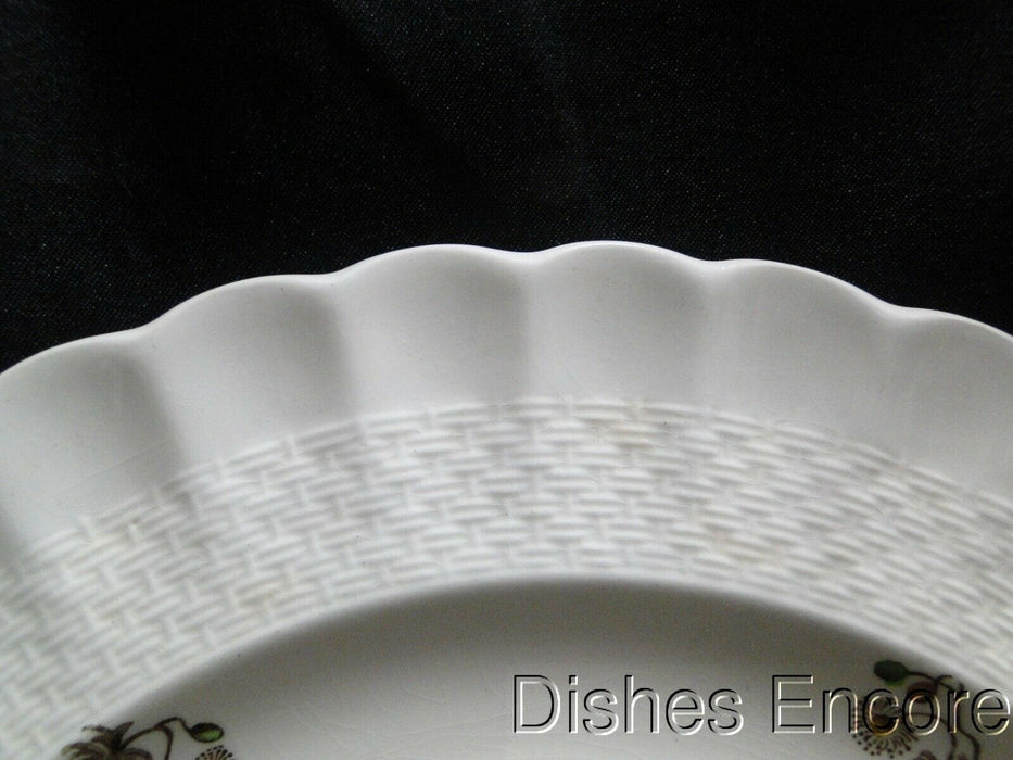 "Spode Wicker Lane, Basket Weave, Florals: Dinner Plate (s), 10 1/2"", Crazing"