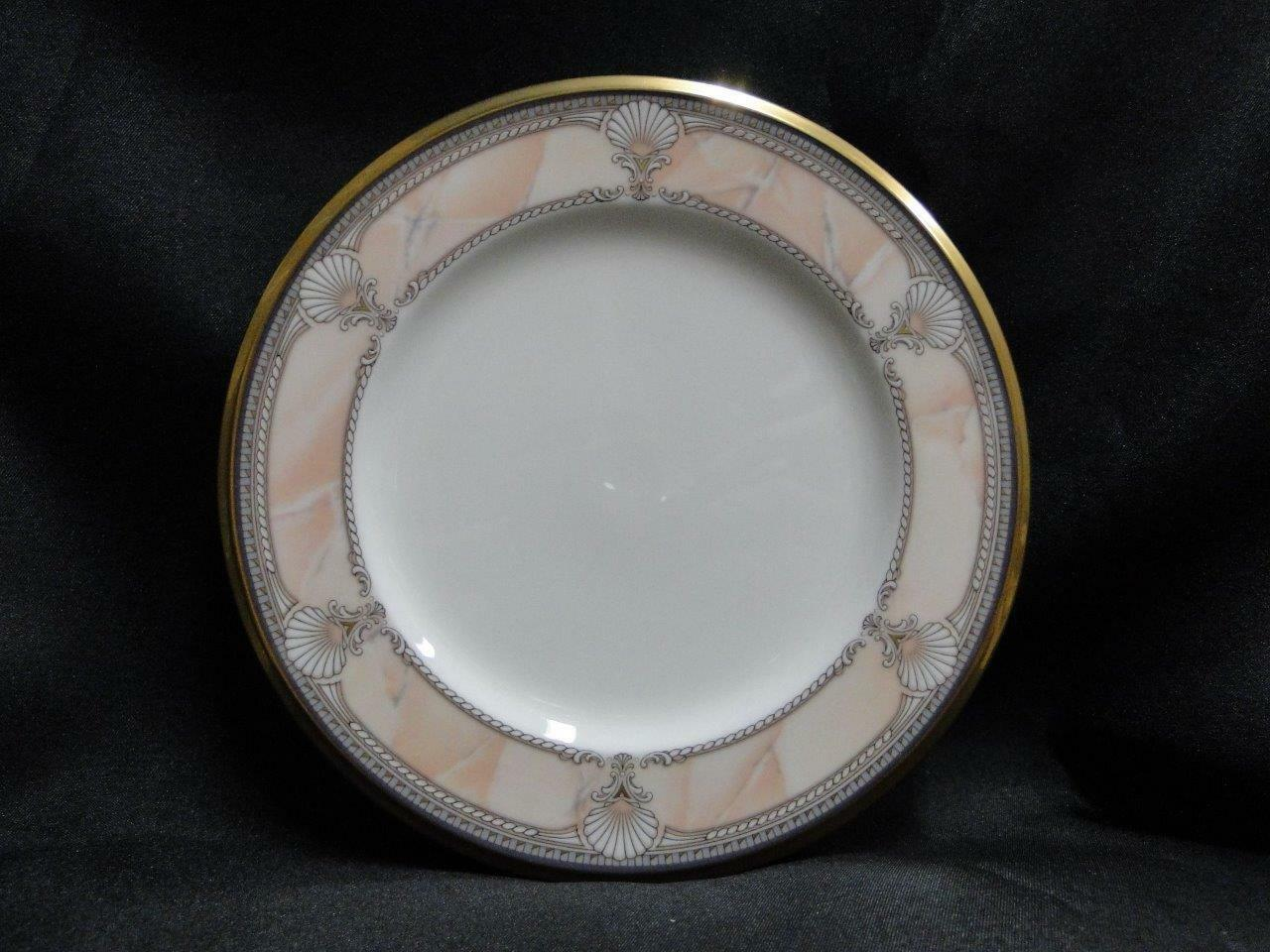 Noritake Pacific Majesty, 9771, White Shells, Pink Rim: Bread Plate (s), 6.75""