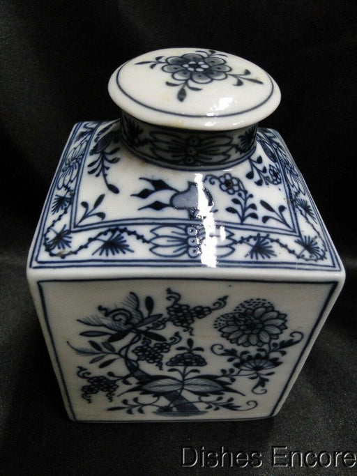 Teichert Meissen Blue Onion Oval Backstamp: Square Decanter w/ Stopper