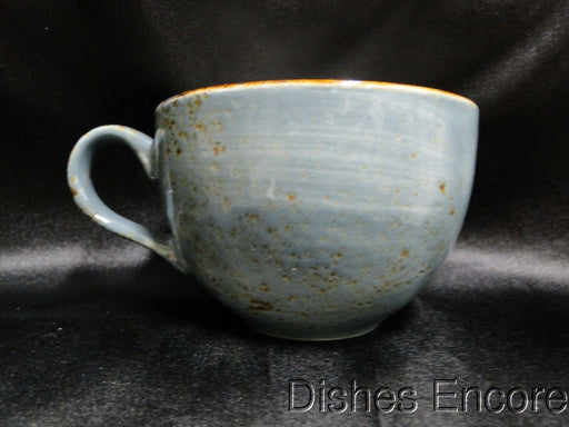 Steelite Performance Craft, England: NEW Blue Low Cup & Double Well Saucer Set