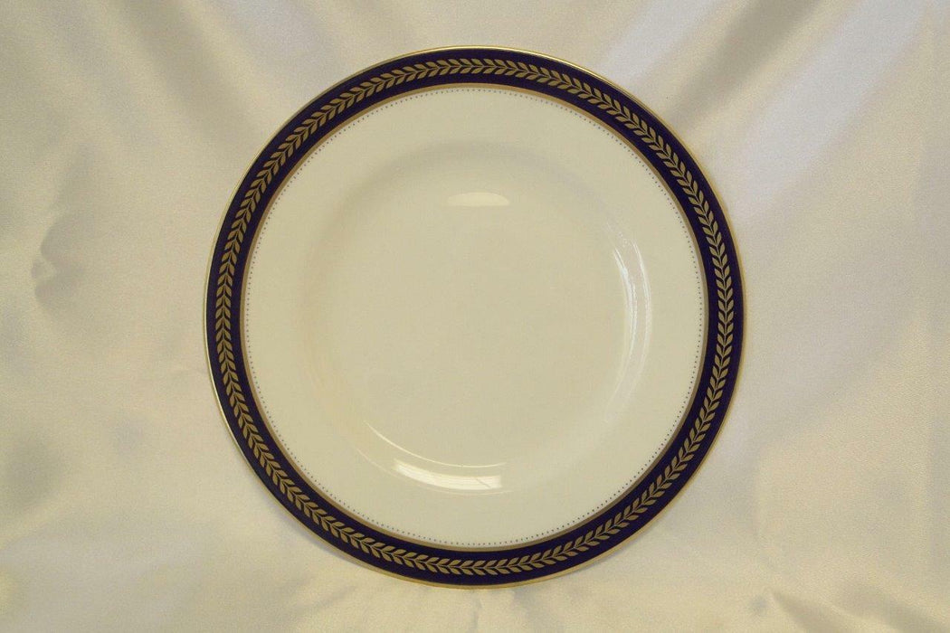 Coalport Blue Wheat, Bone, Gold Laurel on Cobalt Band: Salad Plate (s) 8 1/8""