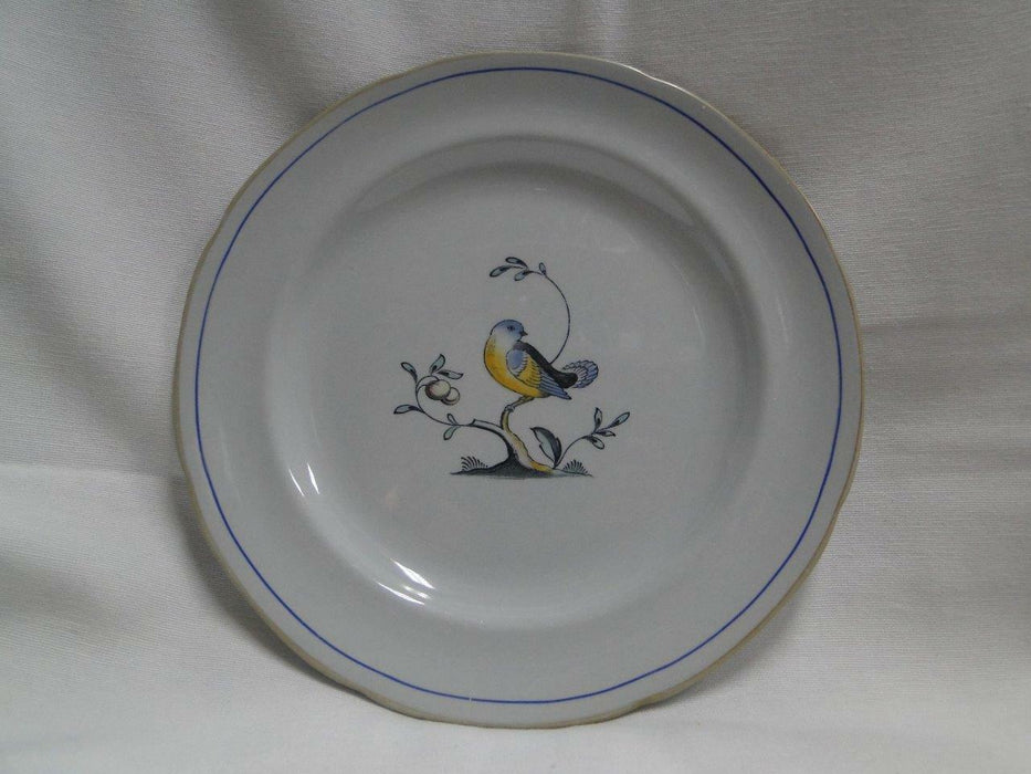 "Spode Queen's Bird, Multicolored Bird on Gray: Salad Plate (s), 8"", As Is"