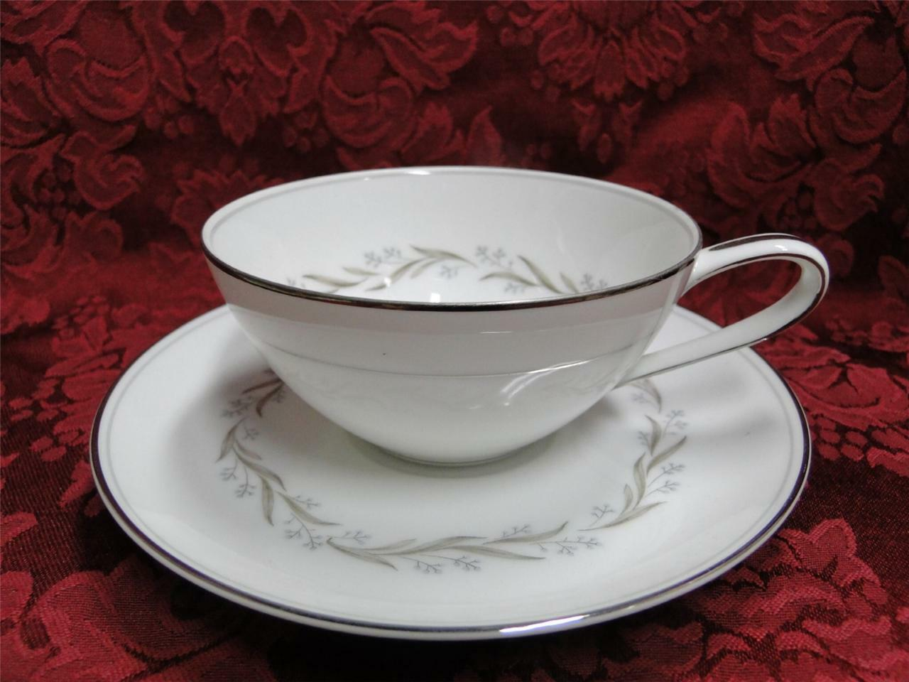 Noritake Almont, 6125, Blue Berries, Gray Leaves: Cup & Saucer Set (s)